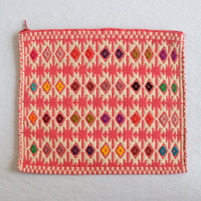 ララインサールの手織りポーチ /227a/ MEXICO メキシコ