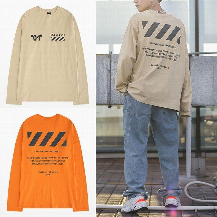 ユニセックス 長袖 Tシャツ 韓国ファッション メンズ レディース バックプリント ラウンドネック シンプル オーバーサイズ 大きいサイズ ストリート