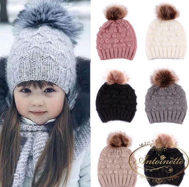 【数量限定・在庫少の為期間限定】0才~1才向け 赤ちゃん ドッド模様 選べるカラー5色 ニット帽 ベビー 子供用 ふわふわ あったか 冬
