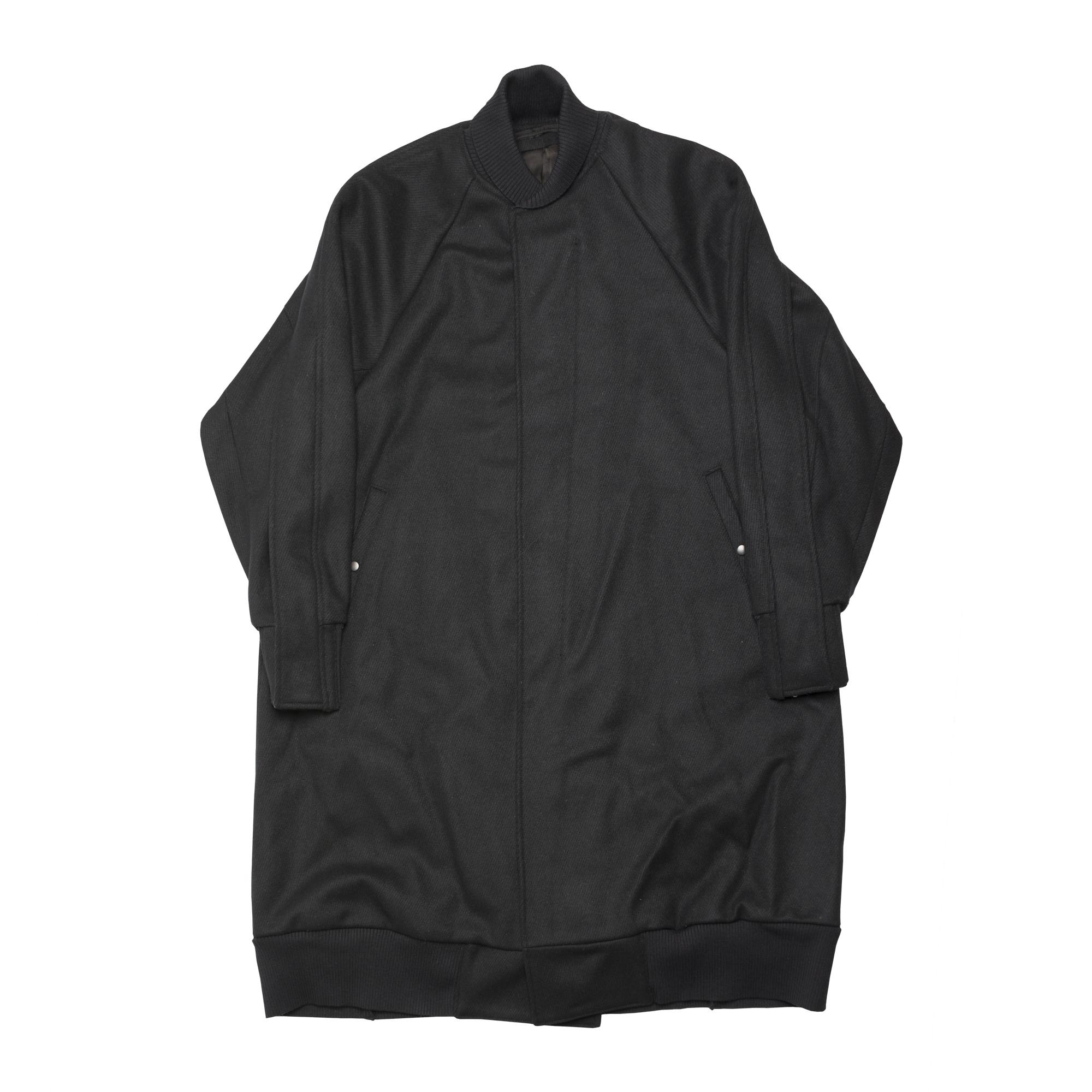 597COM2-BLACK / スラッシングロングスタジアムジャケット