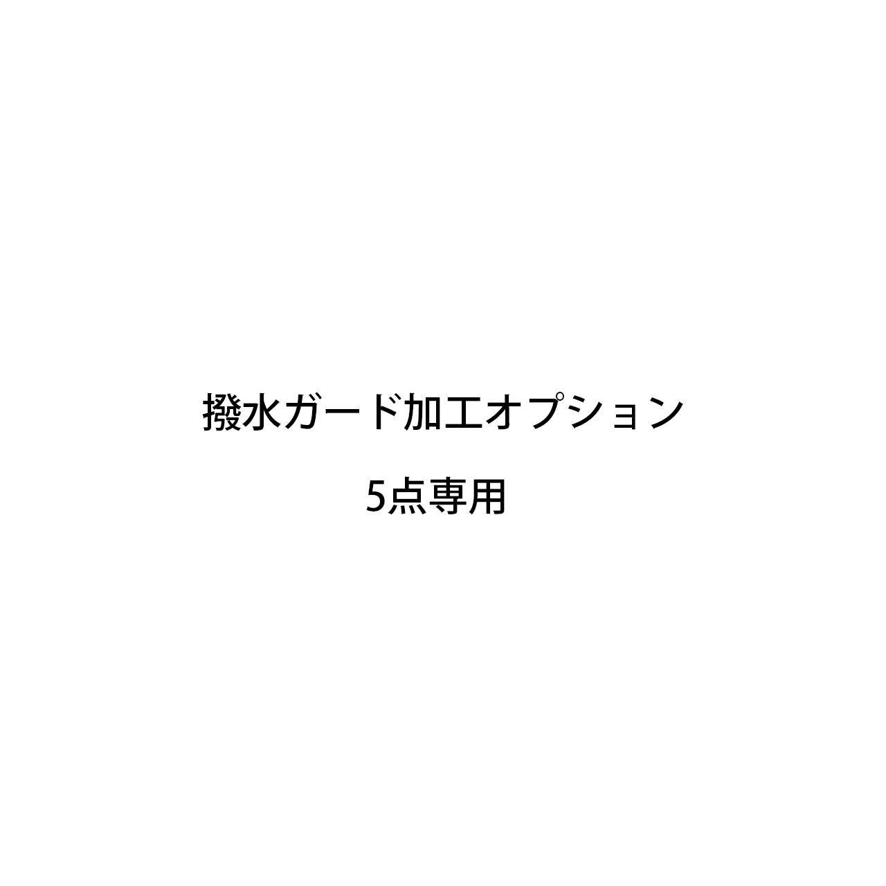 〔CARE MAINTENANCE_5 専用オプション〕撥水ガード加工5点