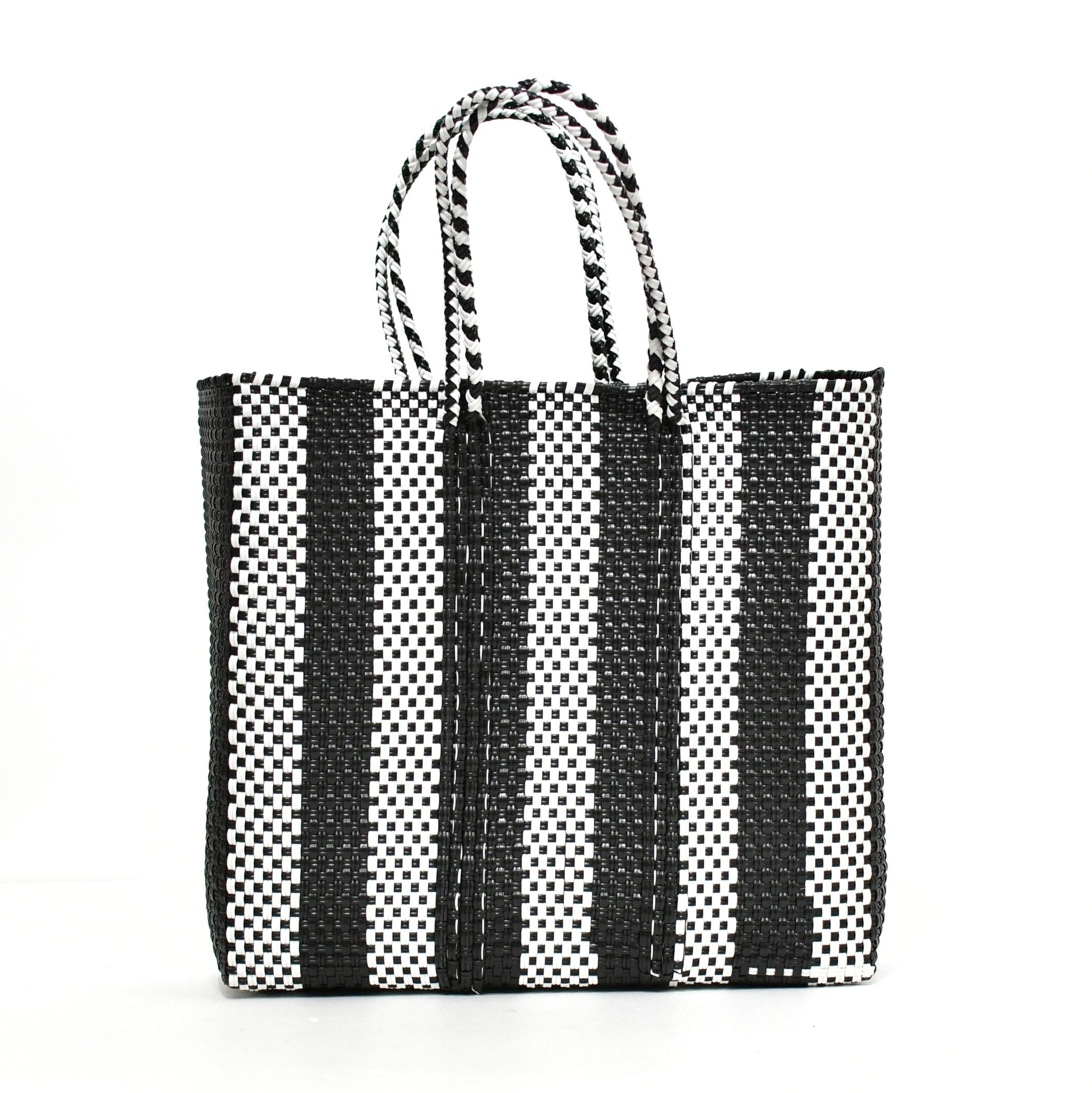 MERCADO BAG 5LINES - Black x White(M)