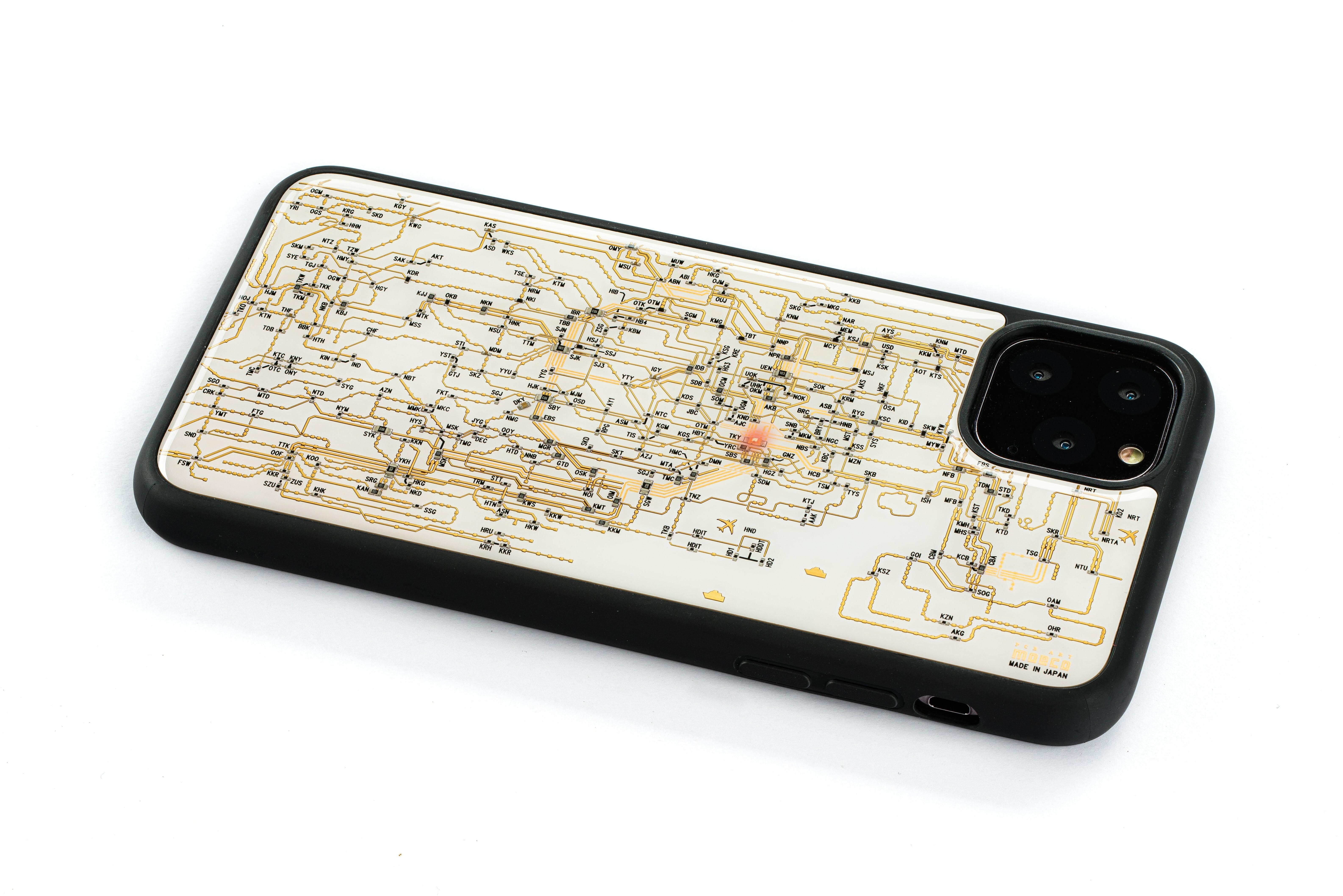 FLASH 東京回路線図 iPhone 11 Pro Maxケース 白【東京回路線図A5クリアファイルをプレゼント】