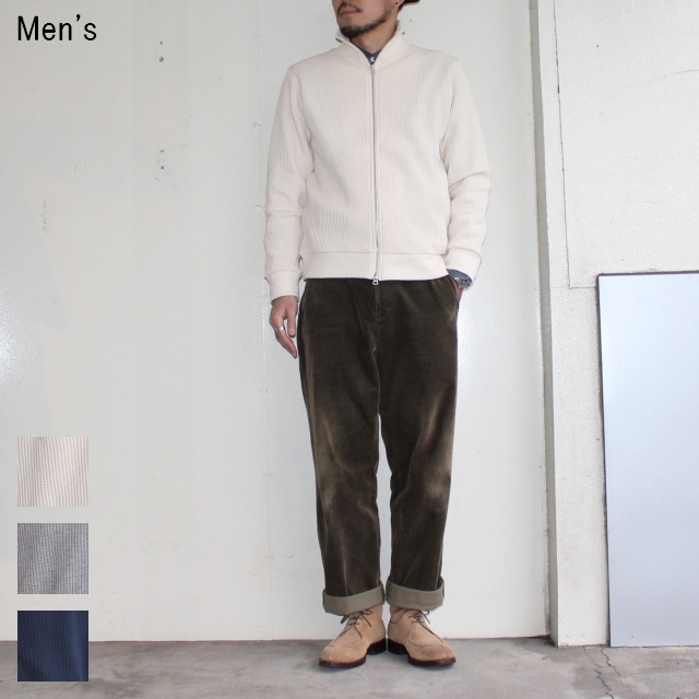 UpscapeAudience ワッフルニットカーディガン Waffle Knit Cardigan AUD2825 (IVORY)