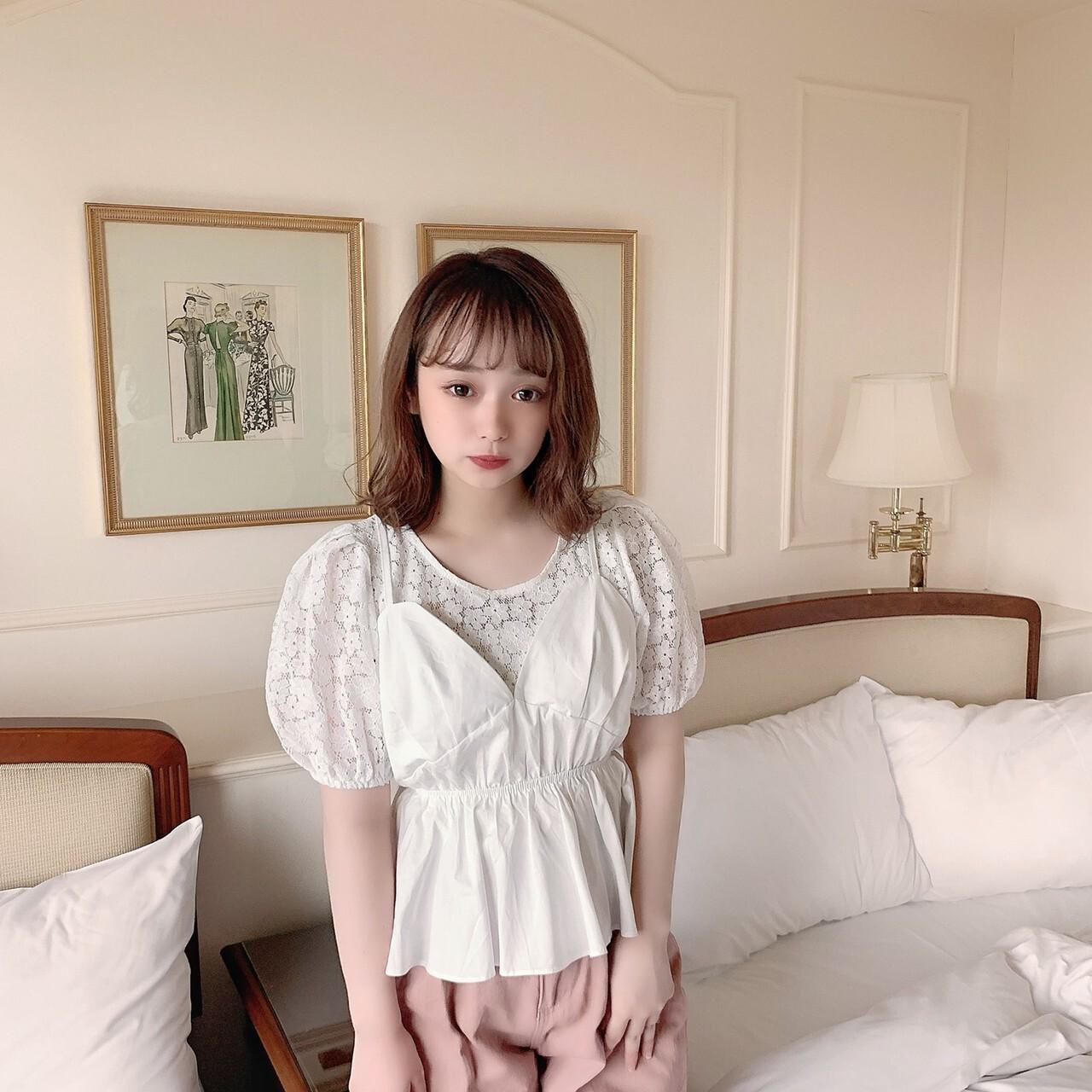 【meltie】peplum bustier blouse