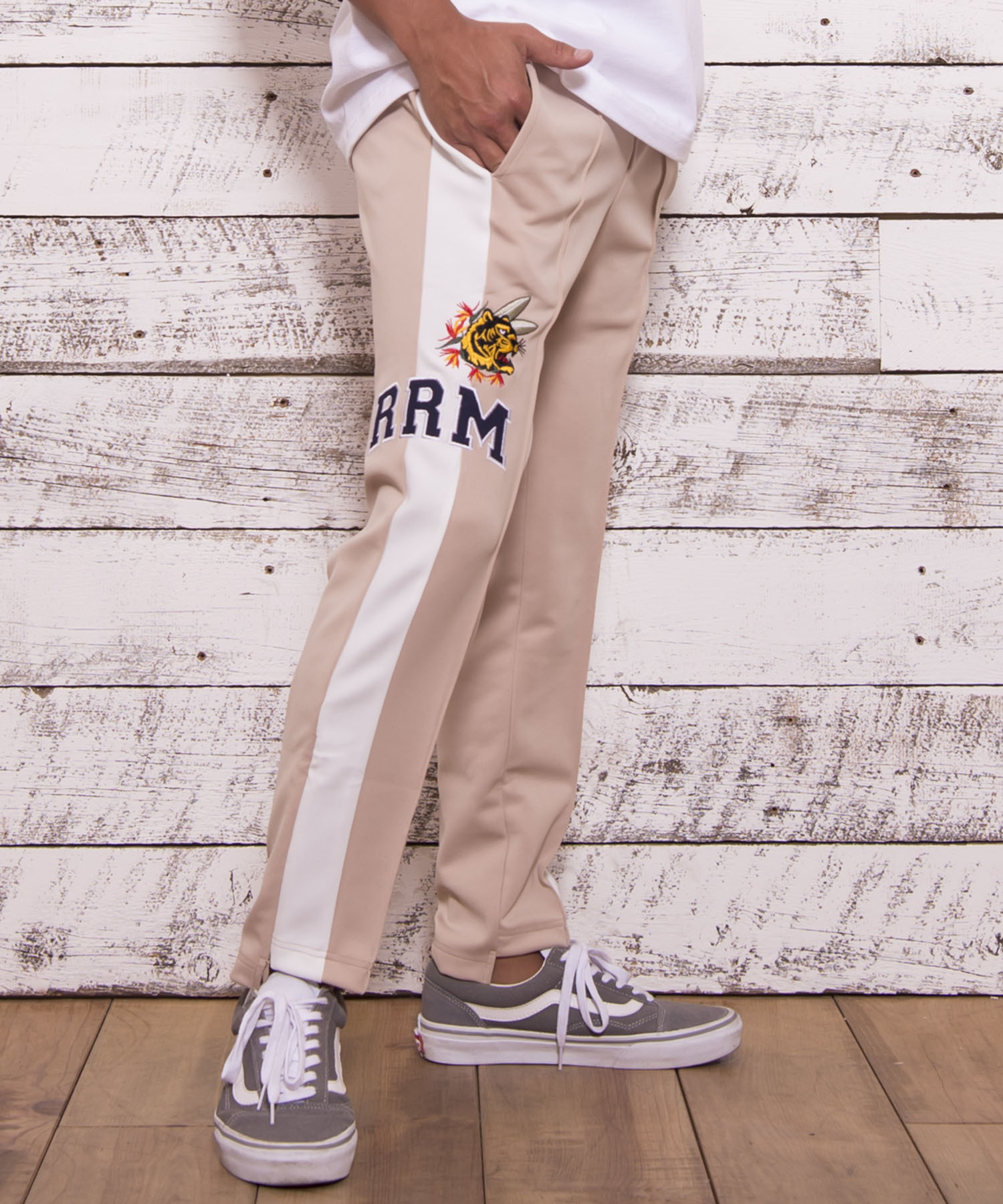 TIGER EMBROIDERY TRACK PANTS[REP041]
