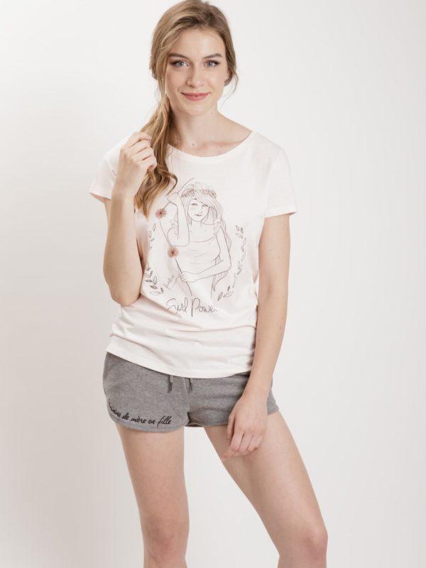 フランス製Tシャツ『GIRL POWER ROSE』