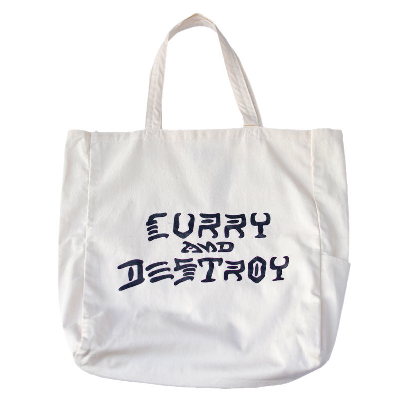 CURRY MASON CURRY AND DESTROY CANVAS TOTE カリーメイソン キャンバストート