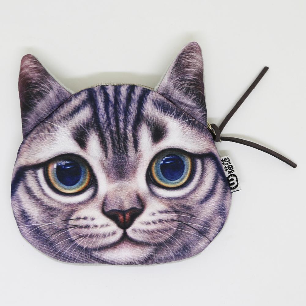 猫ポーチコインケース(キャットフェイス)