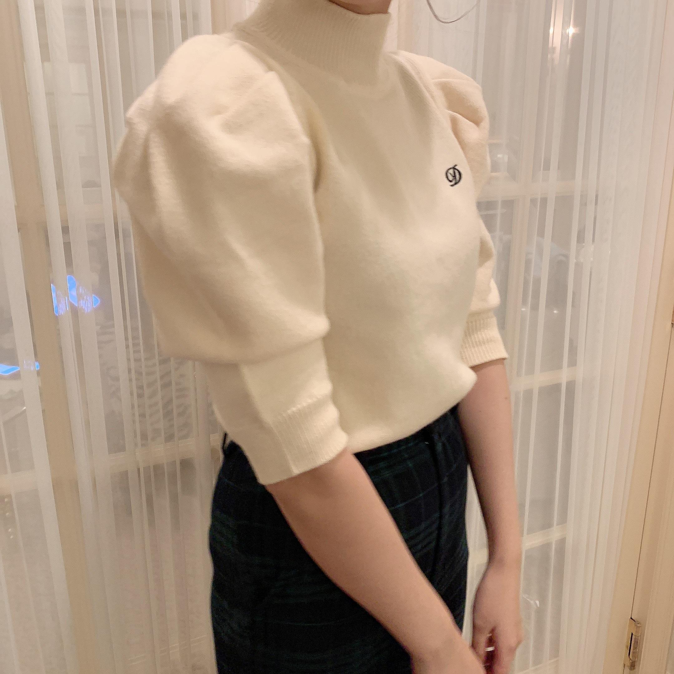 【Désir original】logo knit tops