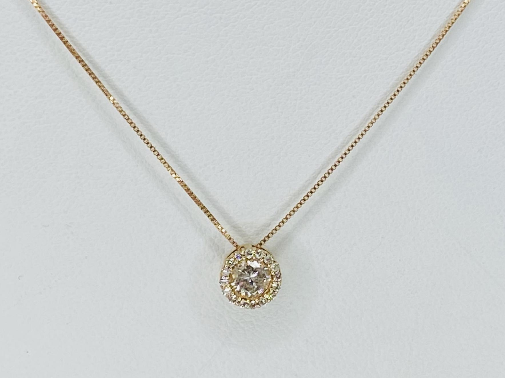 K18PG 0.3ct 0.08ct ダイヤモンドネックレス ○