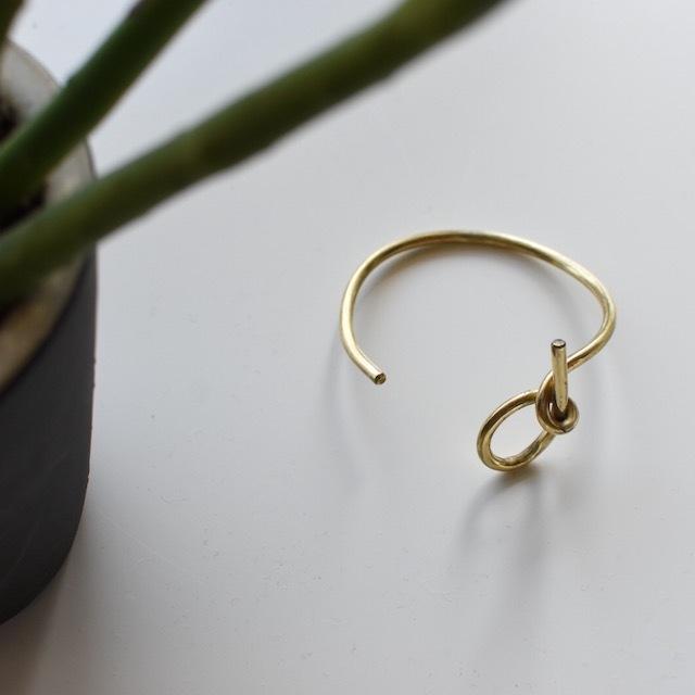 N7enunana -knot-  真鍮ブレスレット