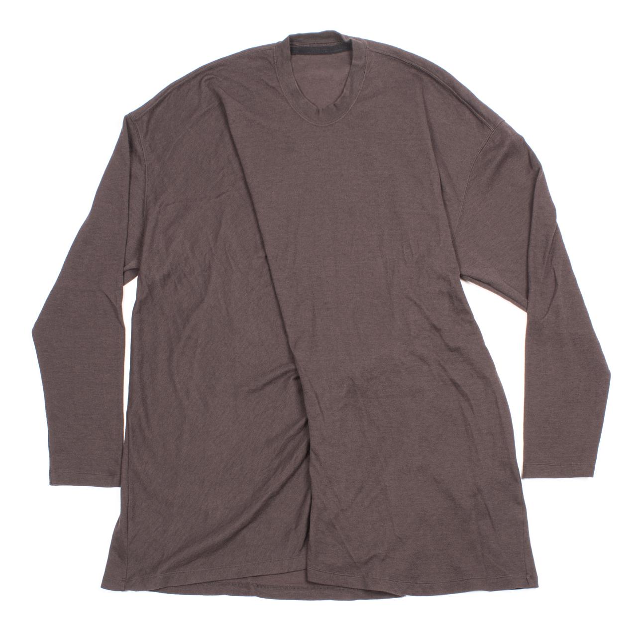 717CUM6-DARK BROWN / ドレープロングスリーブTシャツ