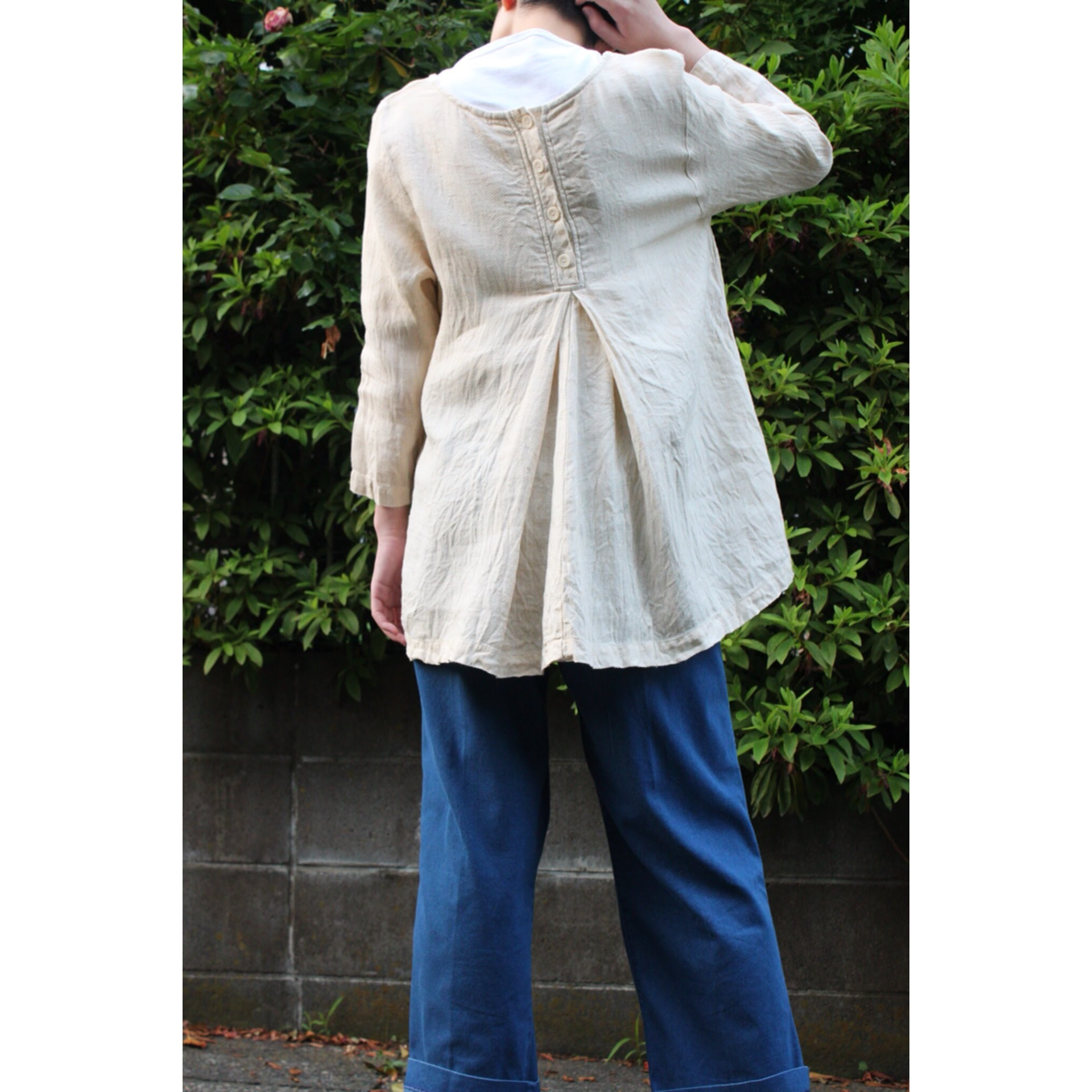 Vintage linen pullover shirt by FLAX