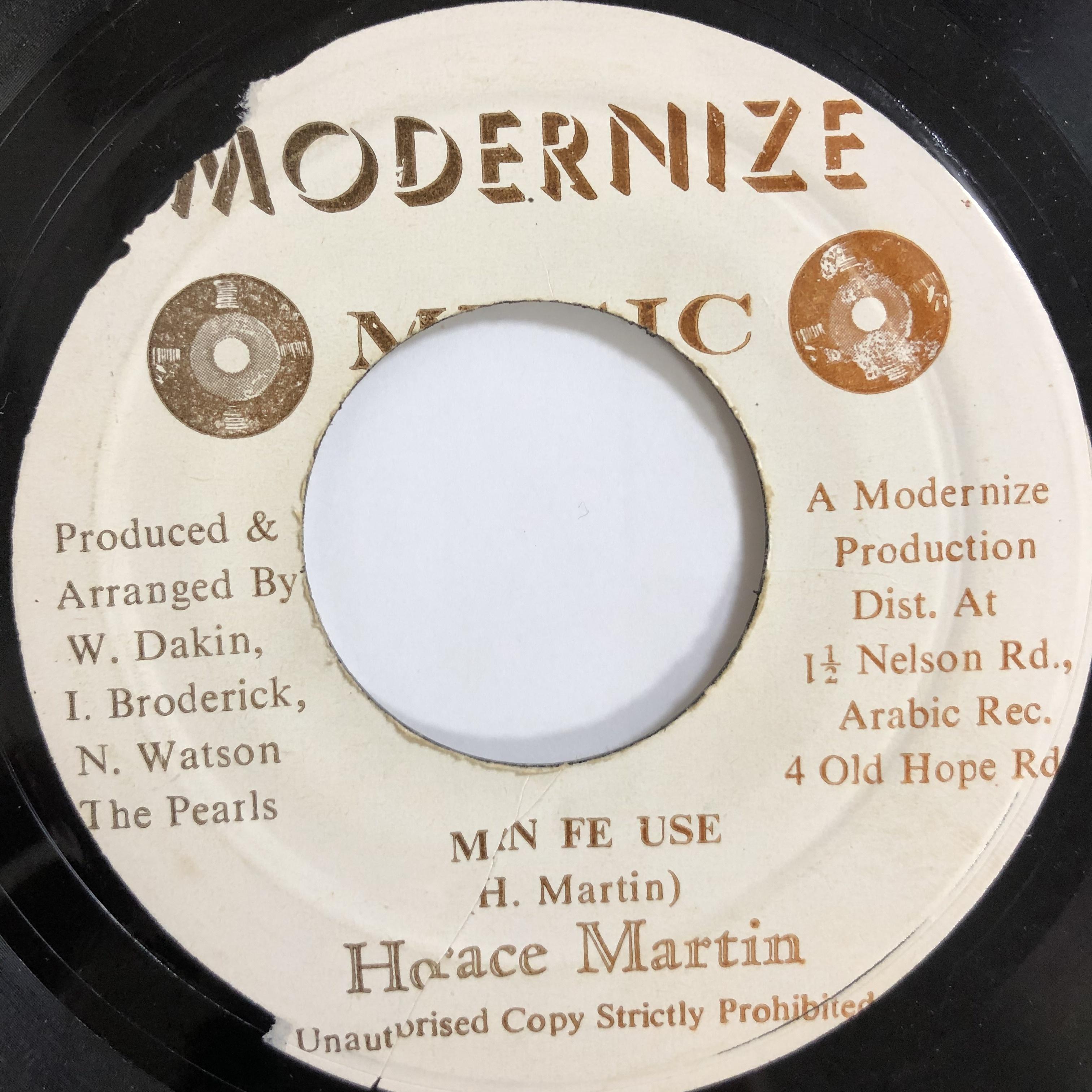 Horace Martin(ホレスマーティン) - Man Fe Use 【7-20046】
