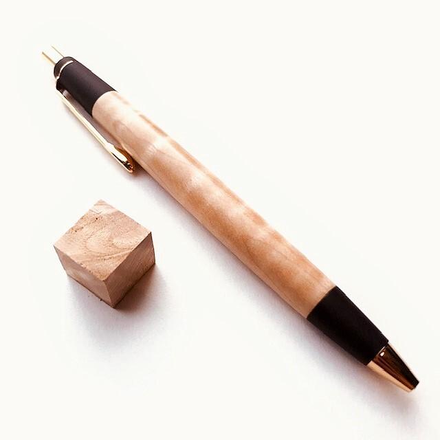木のシャーペン【トチ杢】
