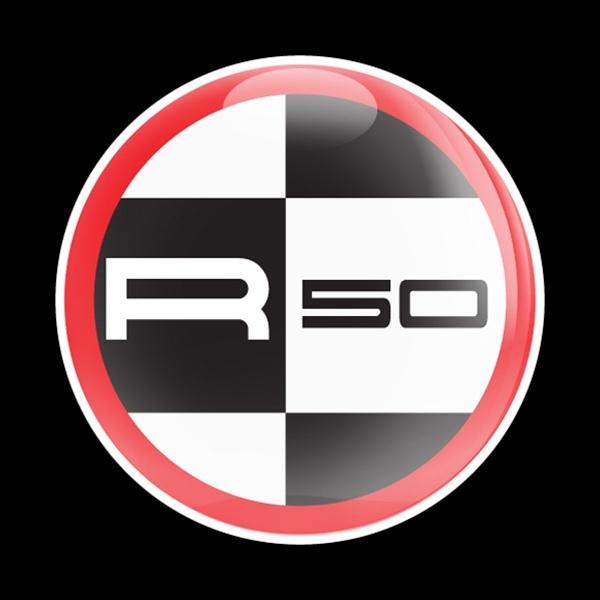 ゴーバッジ(ドーム)(CD0394 - MINI R50 RED) - 画像1