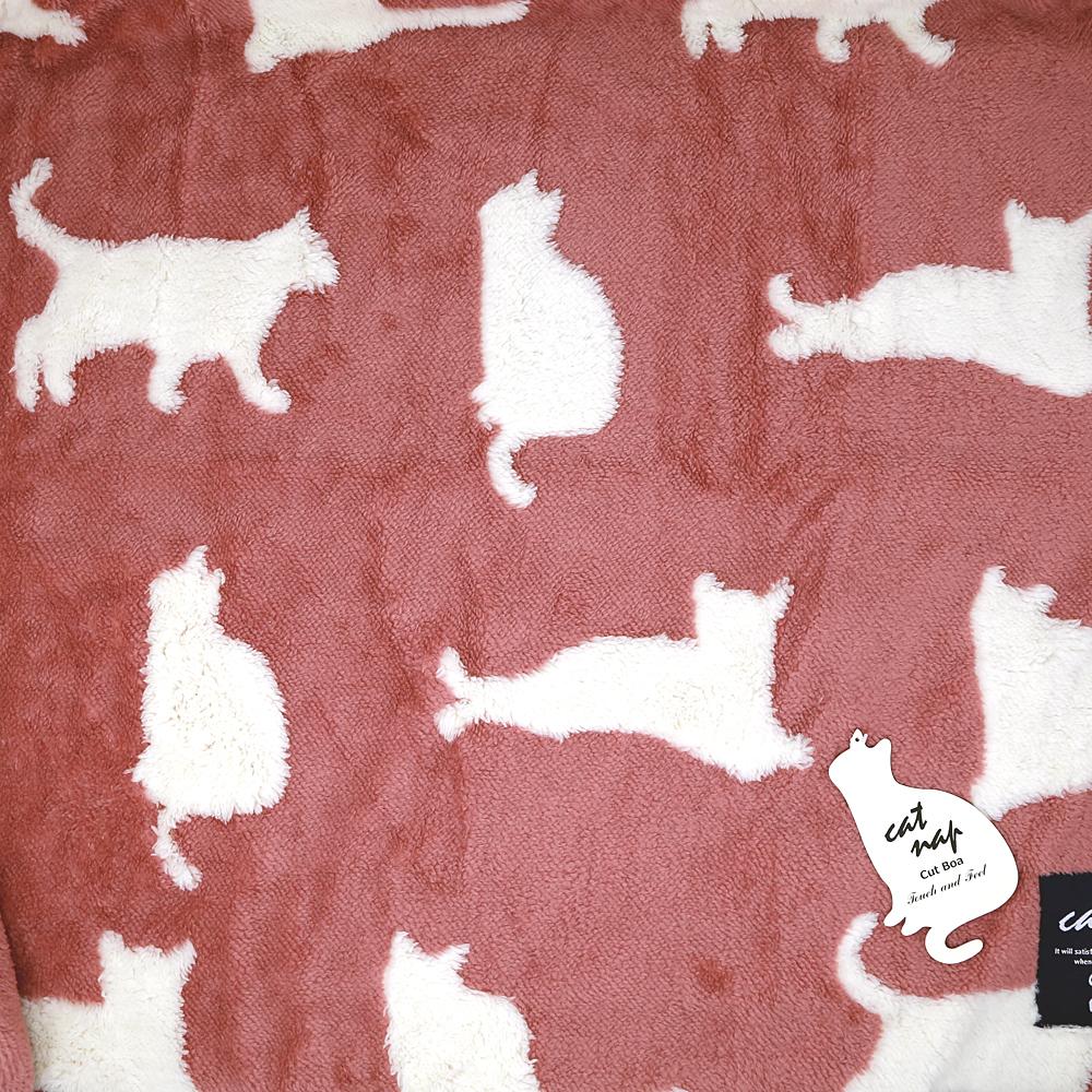 猫ブランケット(キャットナップひざ掛け)ピンク