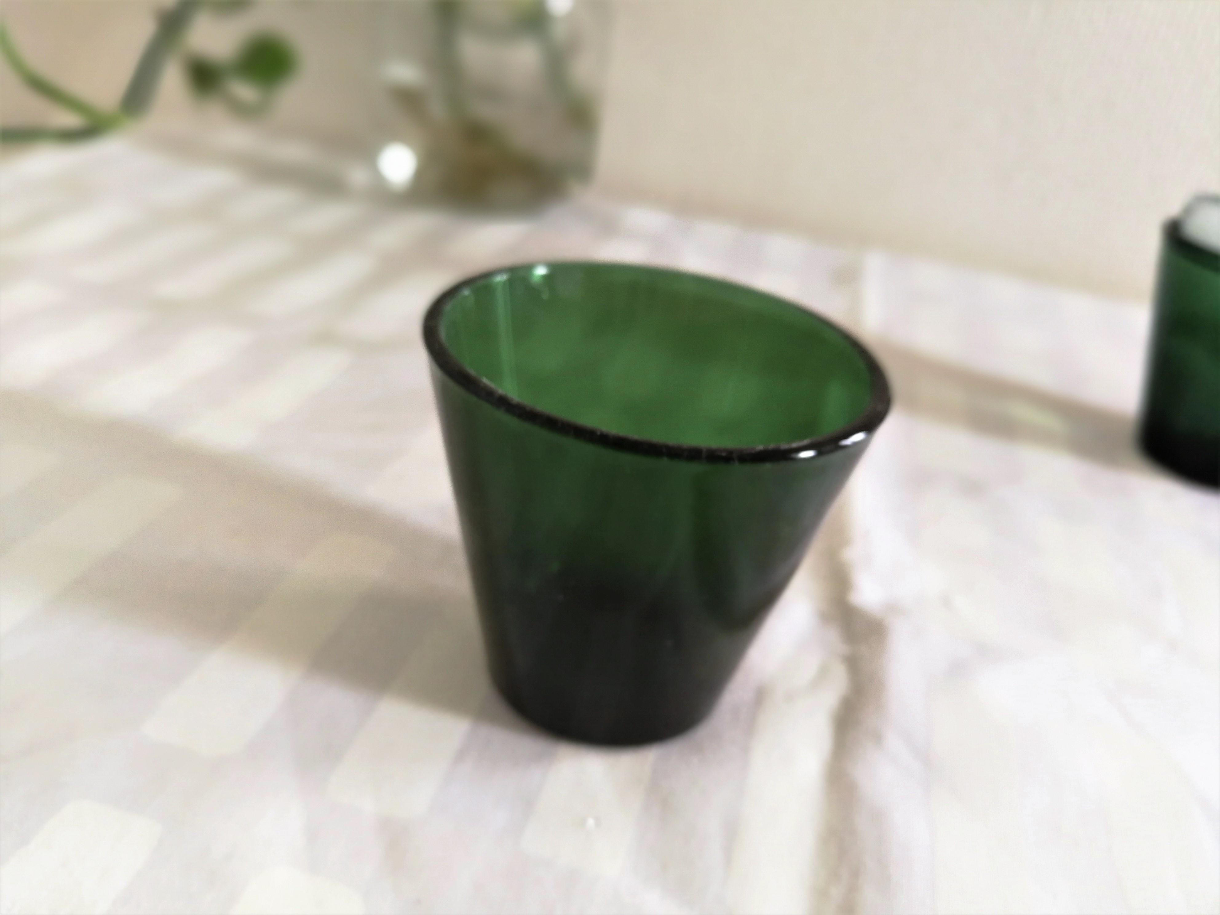 グラス / NUUTAJARVI ヌータヤルヴィ / Kartio カルティオ (グリーン) ショットグラス S