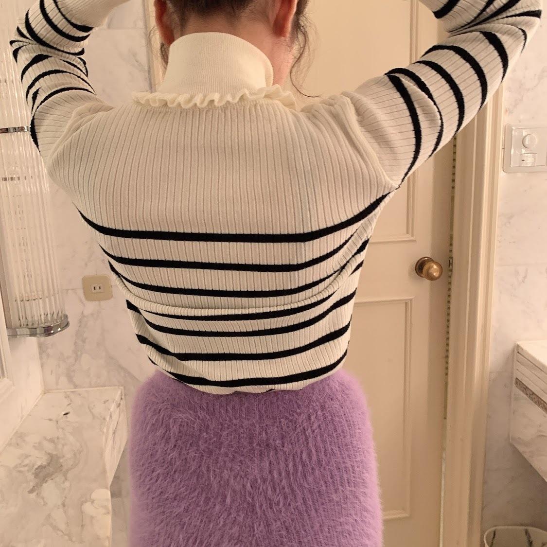 frill neck border tops