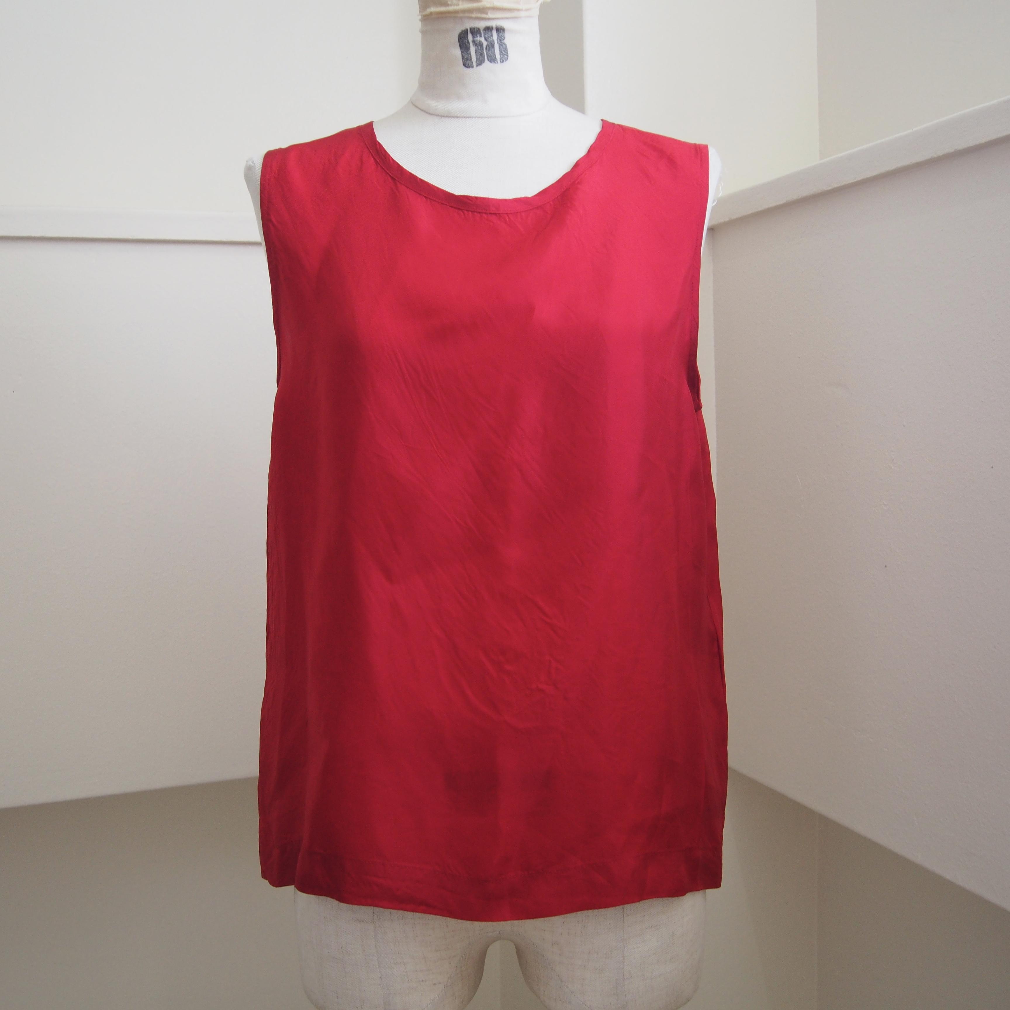 【hippiness】cupro tanktop (red) /【ヒッピネス】キュプラ タンクトップ (レッド)