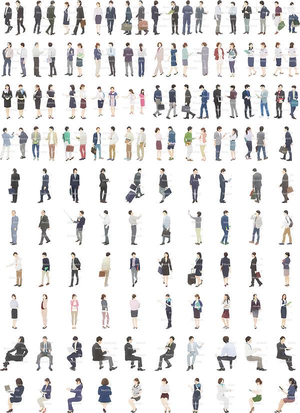SketchUp素材ビジネスイラスト100個-淡い 4aa_012 - 画像3