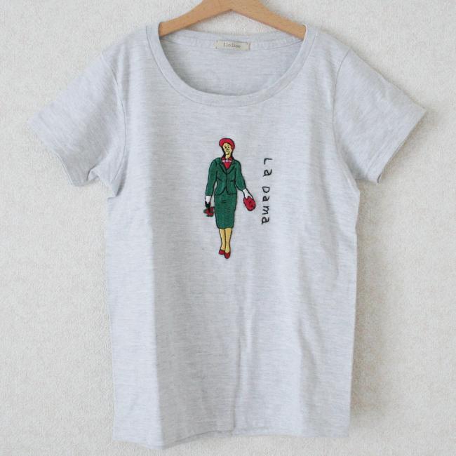 刺繍Tシャツ(婦人 glay) /Ssize/283b/ ilo itoo / GUATEMALA グアテマラ