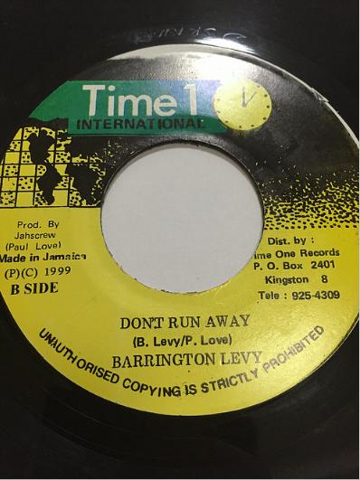 Barrington Levy (バーリントンリーヴィ) - Don't Run Away【7'】