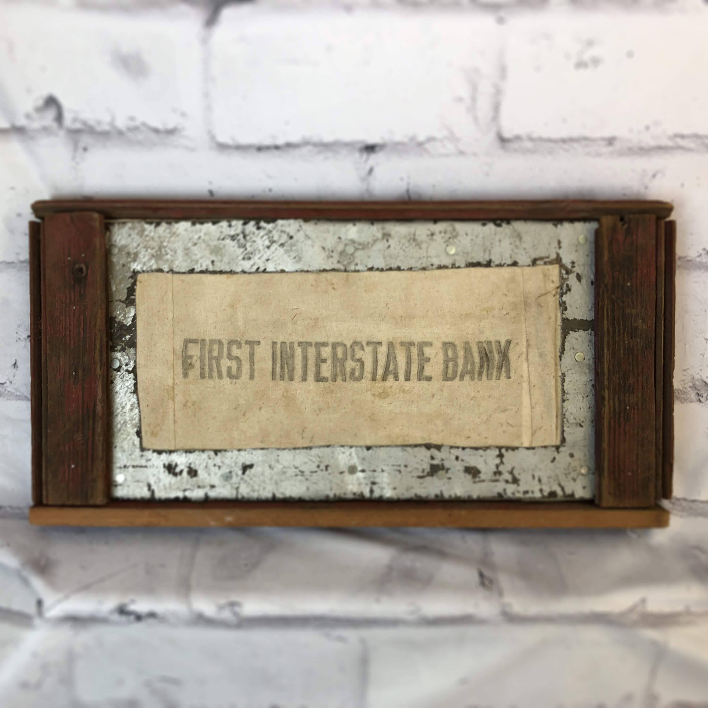 品番4325 看板 『FIRST INTERSTATE BANK』 アート ディスプレイ ヴィンテージ