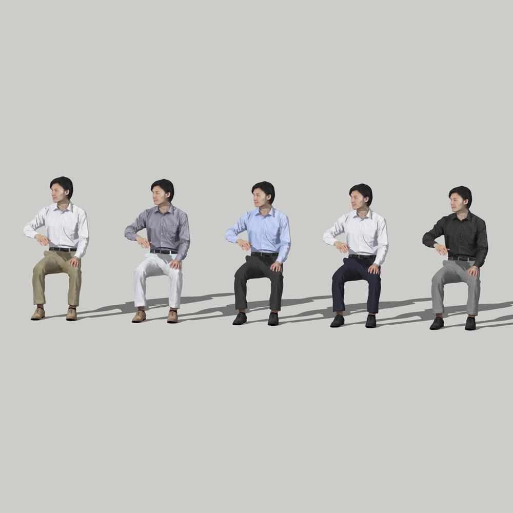SketchUp素材 3D人物モデル ( Posed ) 065_Syun - 画像2