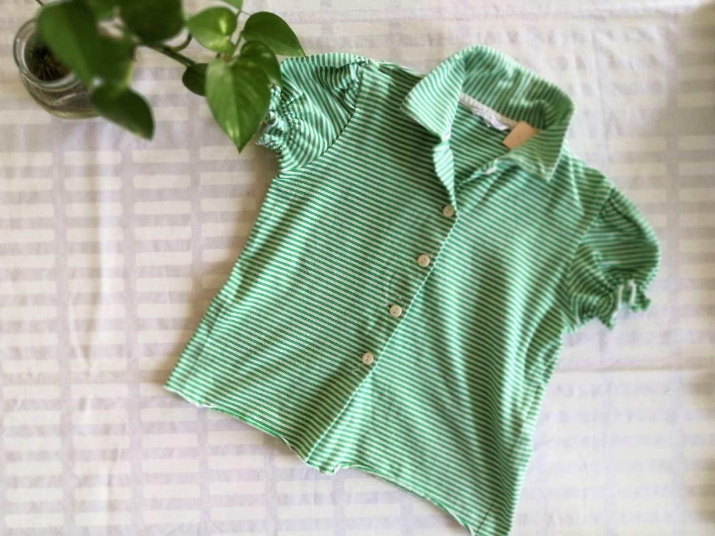 Kids パフスリーブボタンシャツ / マリメッコ / GR