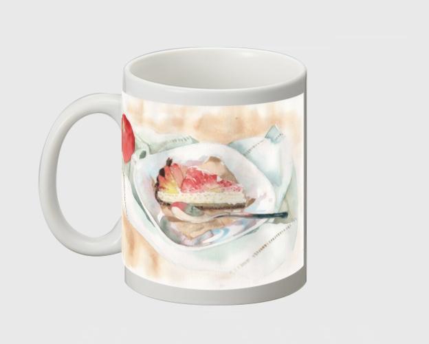 【受注生産】フルーツタルト水彩マグカップ