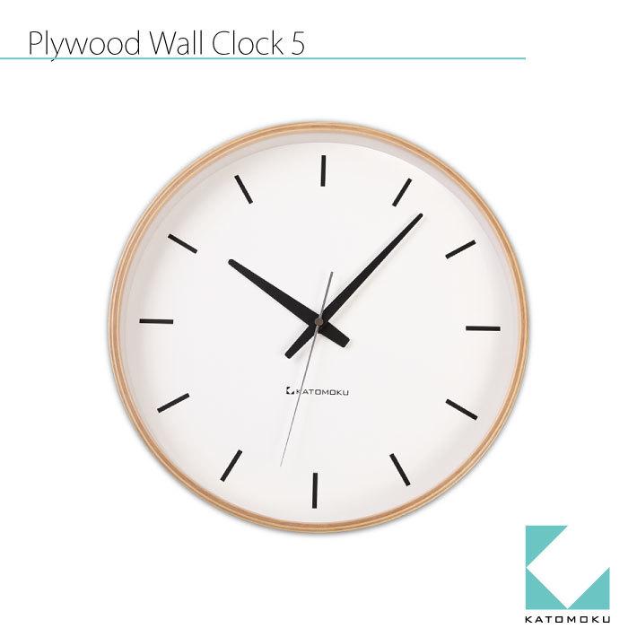 KATOMOKU plywood wall clock 5 km-49N