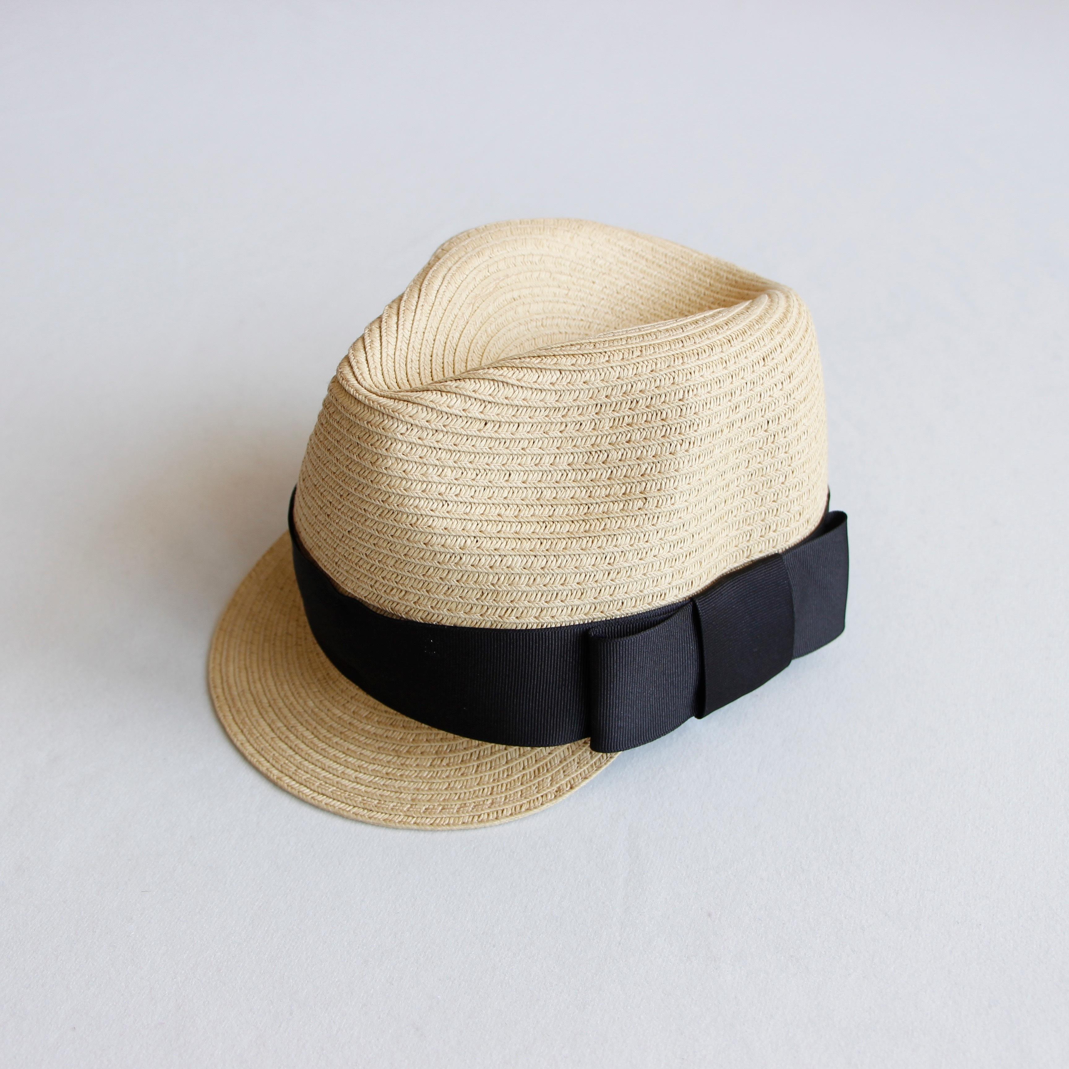 《chocolatesoup 2020SS》PAPER BRAID JOCKY HAT / black / S・M