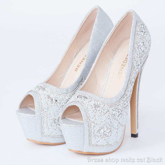 SALE!! 14cmヒールオープントゥパンプスma-3349 ドレス 結婚式 パーティー お呼ばれ