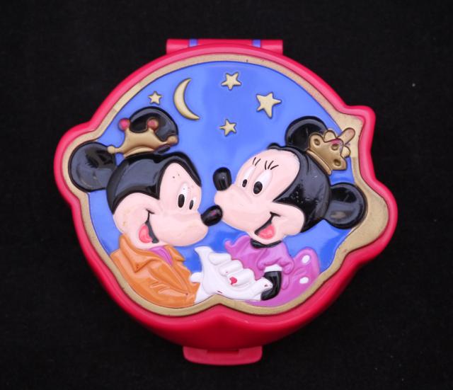 ポーリーポケット ディズニー ミッキーとミニーのコンパクト 完品