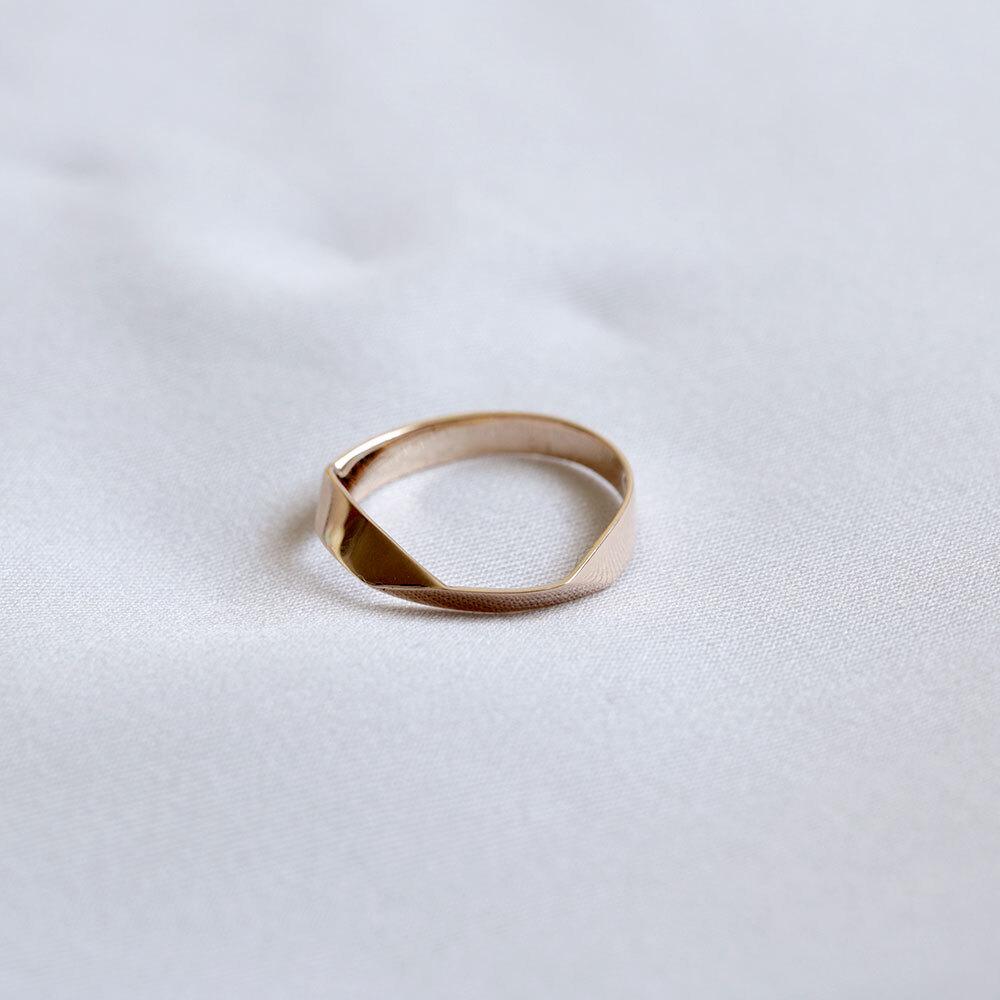 FOLDING METAL / ring - yellow gold