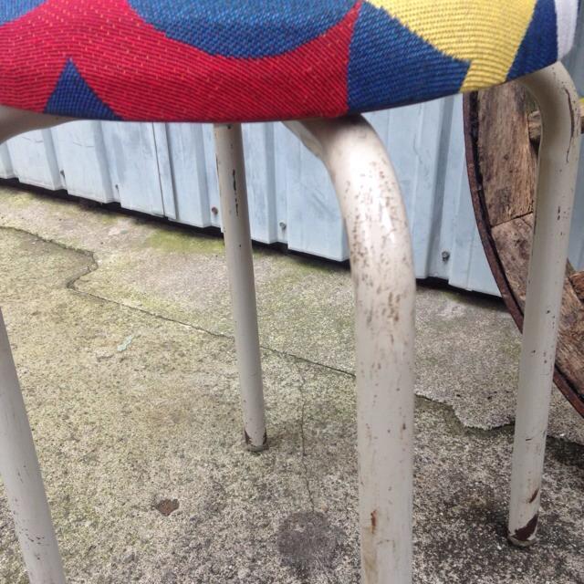 レトロ チェア ゴブラン織生地リメイク