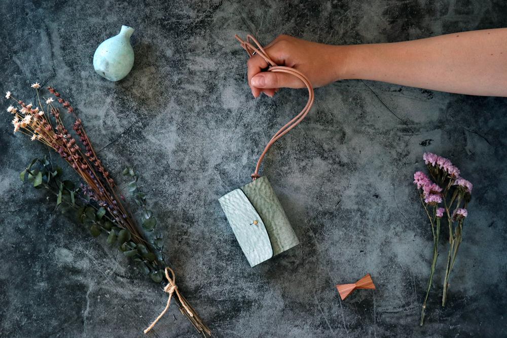 アラスカ_グリーン◆外装◆あかちゃん財布◆三つ折り
