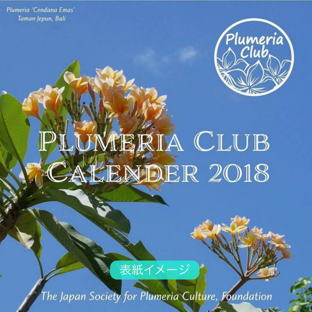 【世界の名花プルメリアが楽しめる卓上カレンダー】DESKTOP PLUMERIA CALENDER 2018 (ゆうパケットにて発送)