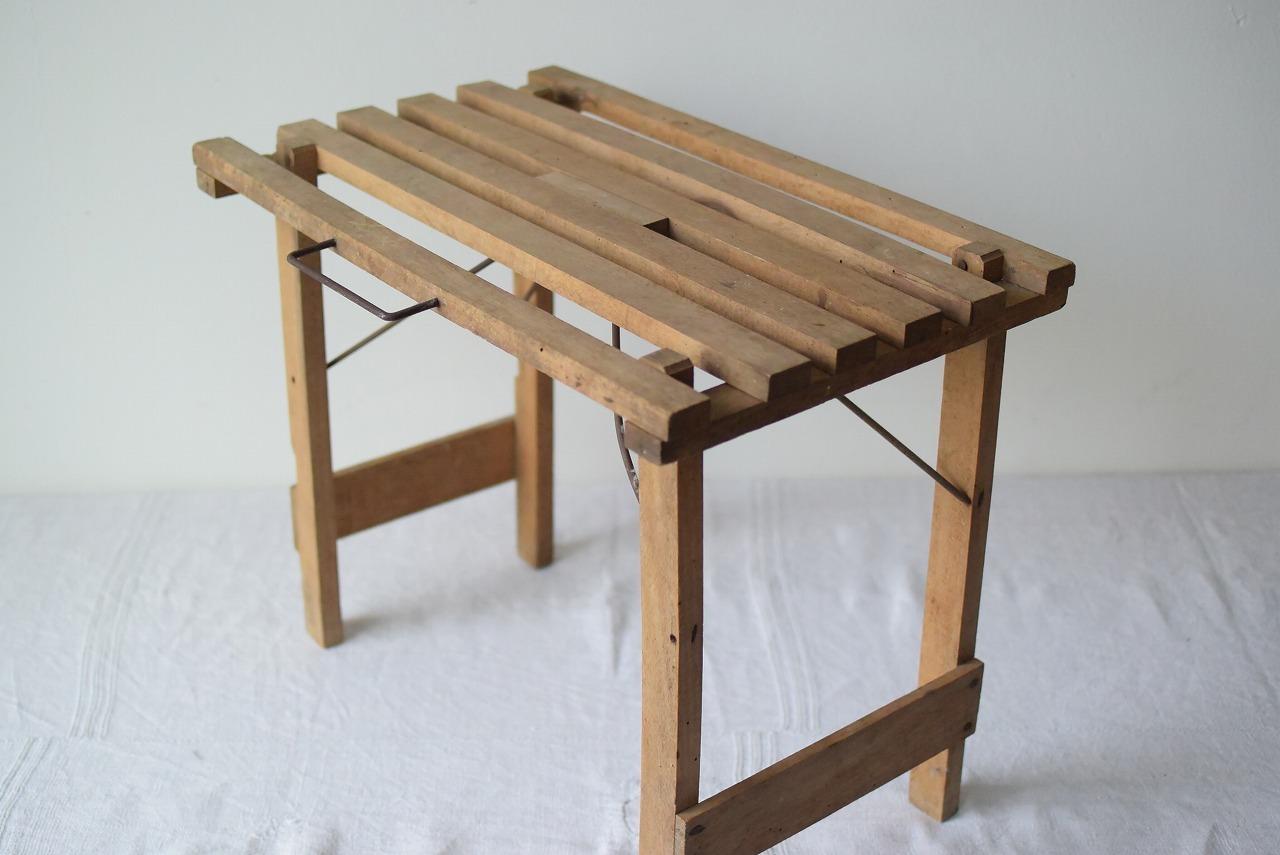 フランスアンティーク 折りたたみミニテーブル