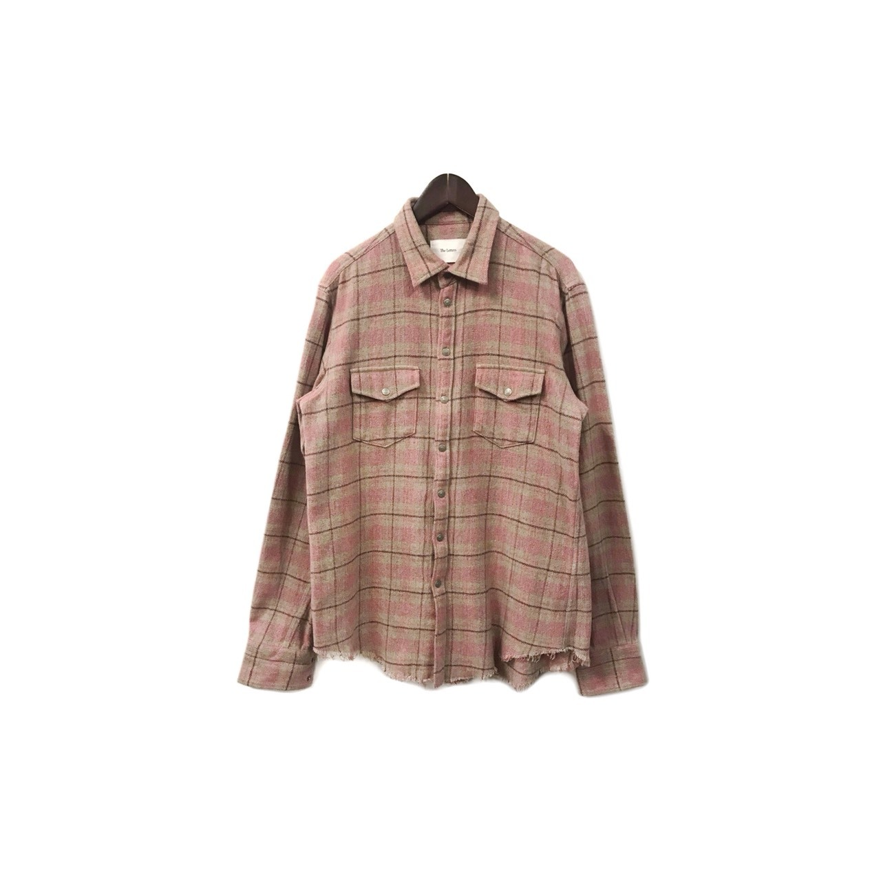 The Letters - Flannel Check Shirt (size - L) ¥16500+tax