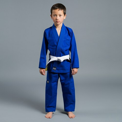 Standard Issue Semi Custom KIDS 青 ブラジリアン 柔術衣(上下セット・白帯,パッチ付)