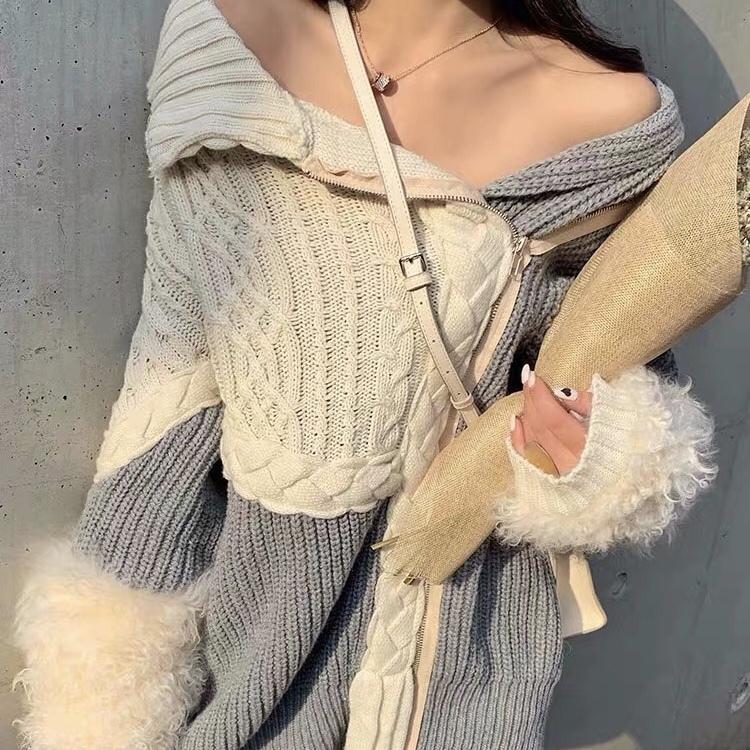 arm volume fur knit