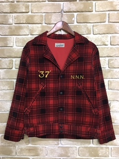 PLAID PRINTED CORDUROY JACKET