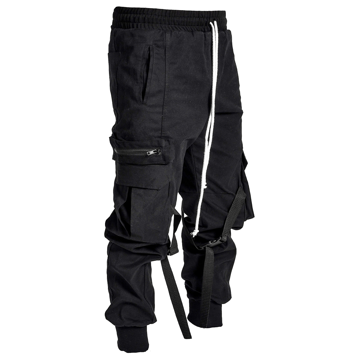 LAKENZIE CARGO PANTS - BLACK