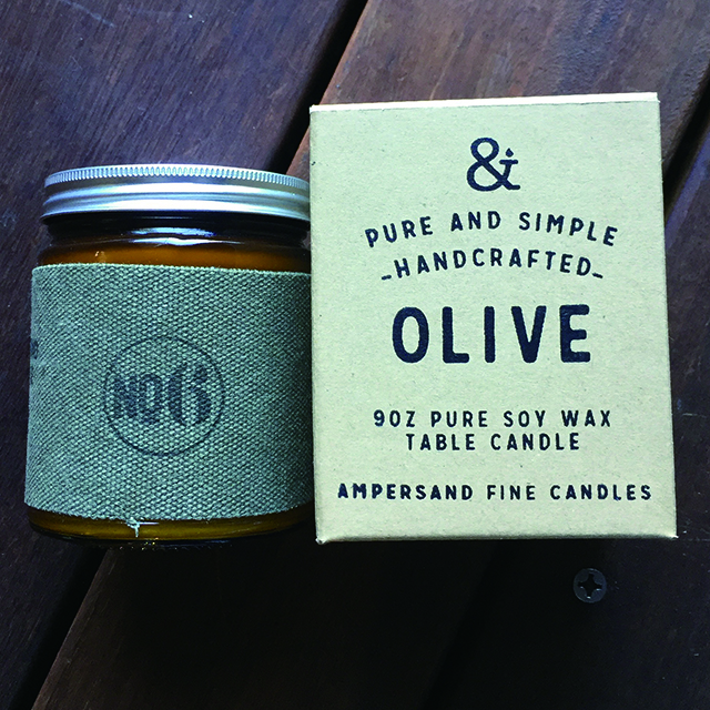 9oz Amber Jar Candle -OLIVE- キャンドル Candles - 画像1
