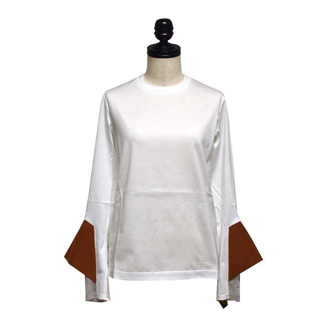 NAIFE™ / Flare cuff  long T-shirts / White