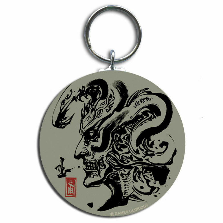 【 KEITA AMEMIYA x GAMES GLORIOUS】Steel Keyring - GhostHead - / GAMES GLORIOUS