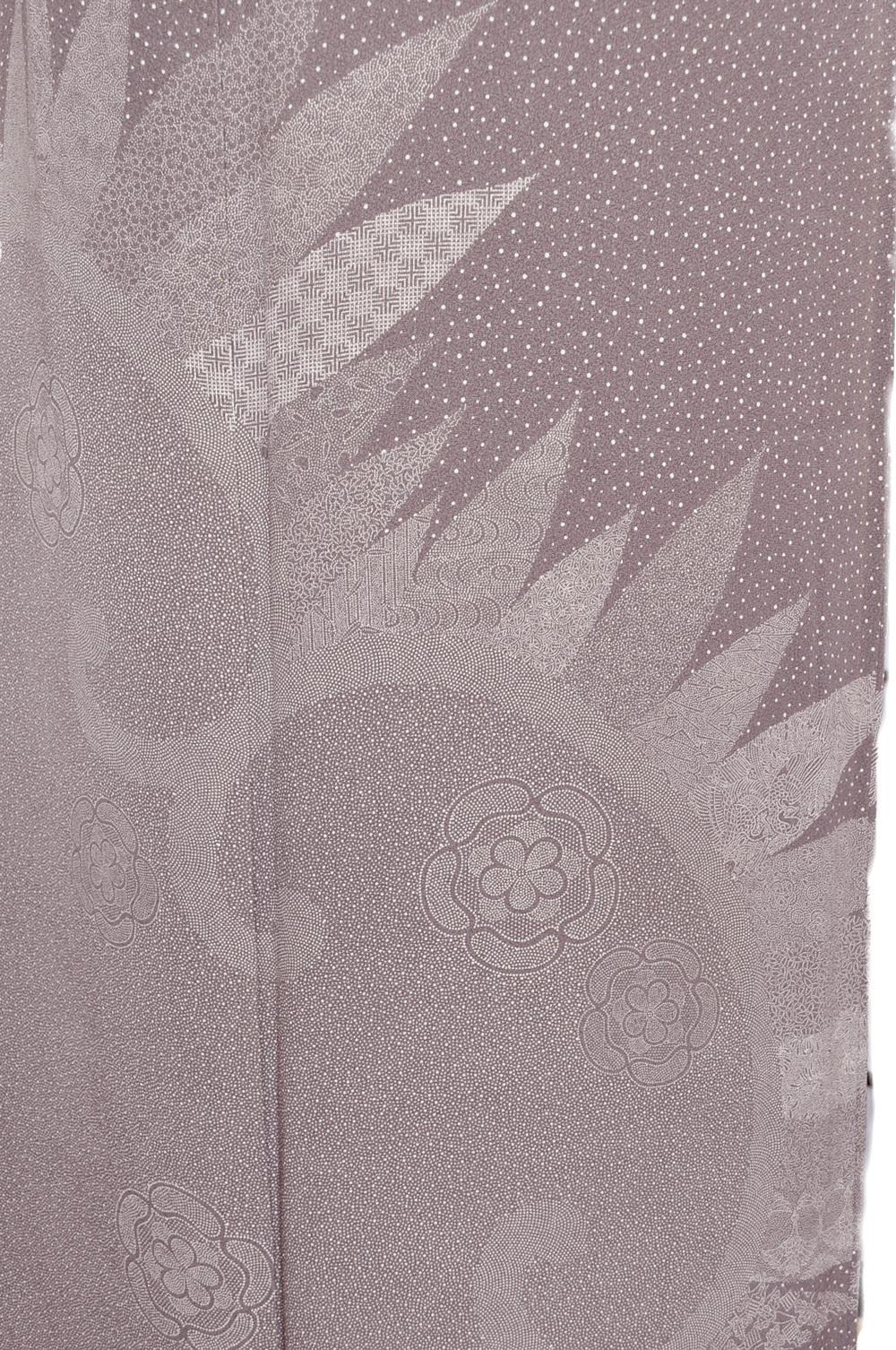 ワイドサイズ(2L)■訪問着レンタル■紫系グレーにたたきhuwide3〔往復送料無料] - 画像4